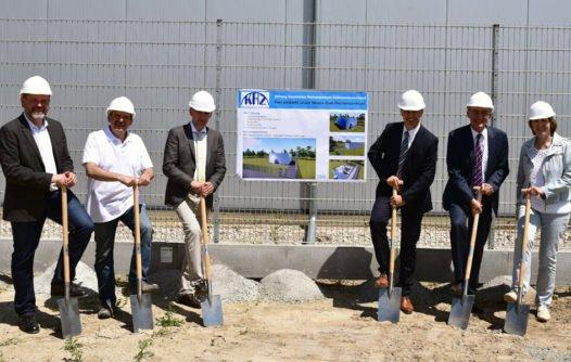 Spatenstich für den Bau des KRZ.Dual-Rechenzentrums, Juni 2017